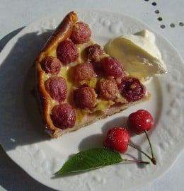 Calfoutis, traditional Limousin cherry dessert