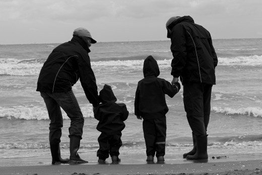 Finding the time to do things together as a family.