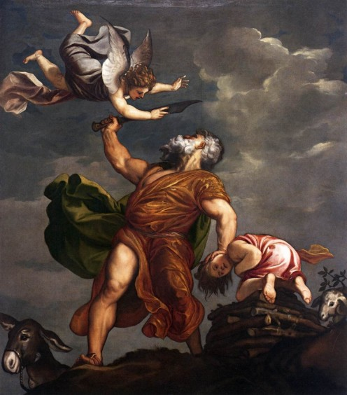 """Abraham and Isaac"" by Titian was likely created somewhere between 1542-44,/center"