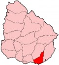 Map location of Maldonado Department where Punta Ballena is situated