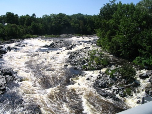 "Some say the tragic events of ""The Jam At Gerry's Rocks"" occurred on a rapid somewhere on the upper Kennebunk River in Maine--perhaps like the Maine rapids pictured here."