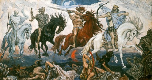 """The Four Horsemen of the Apocalypse"" by Victor Mikhailovich Vasnetsov"