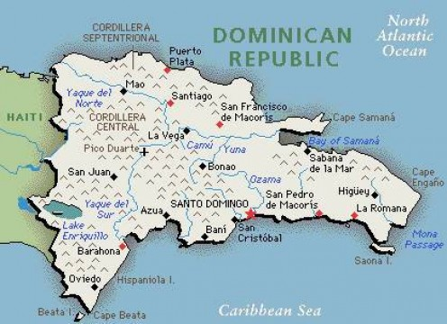 The Dominican Republic takes up the larger part of the island of Hispaniola