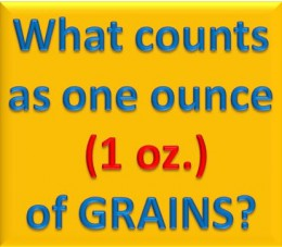 What counts as one ounce of grains?