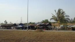 Market area along the roadside.