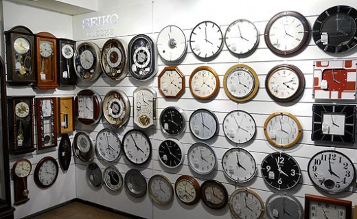 Jhamans Clock Shop,Chickpet,the largest clock shop in India.