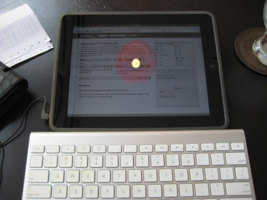 Writing this hub on my Apple iPad in a Bangkok cafe.