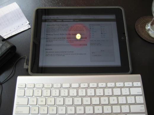 Writing this hub on my Apple iPad in a Bangkok cafe.