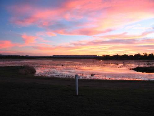 Sunset of Lake Kununarra