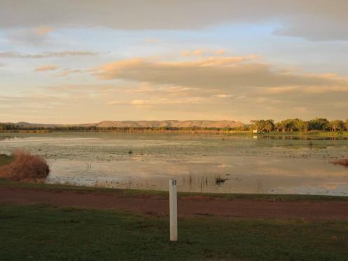 Morning light over the lake