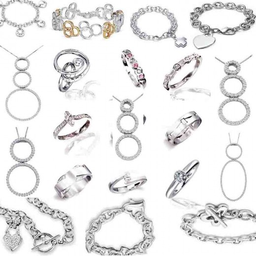 silver jewelery images