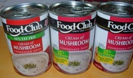 You need three 10.5 ounces cans of Cream of Mushroom Soup