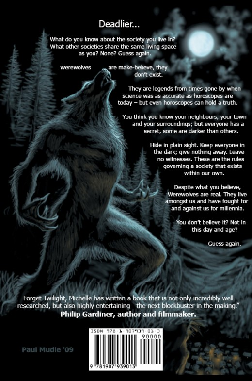 The back cover of Deadlier... an excellent image by Paul Mudie  www.paulmudie.com