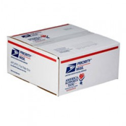"Example- this is a 12X12X 5 1/2 size box and ships for $12.95 no matter the weight.  Also displays the ""We Support You"" Logo on the box."