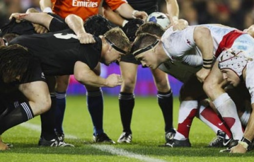 All Blacks v Union Rugby Union Scrum