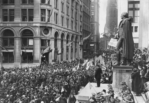 Wall Street - A lot of people gathered once on Armistice Day