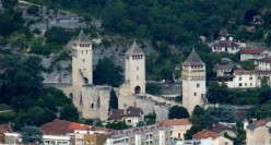 The famous, monumental, Medieval bridge at Cahors