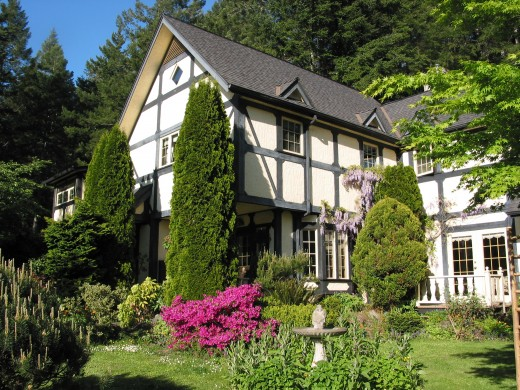 This Bed & Breakfast near Sooke is half a day from Vancouver.  Markham House, a country manor near the sea  furnished with antiques, carved wood furniture and wardrobes, is another world for a holiday in 2012.
