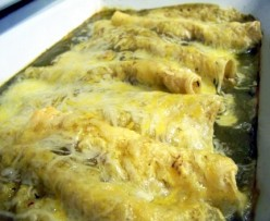 Chicken Enchiladas with Sour Cream Salsa Verde Sauce - a Delicious Mexican Recipe
