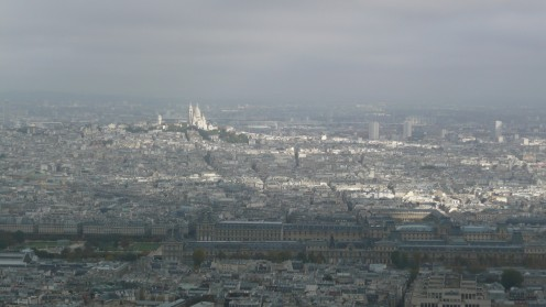 View of Montmartre and surrounding area