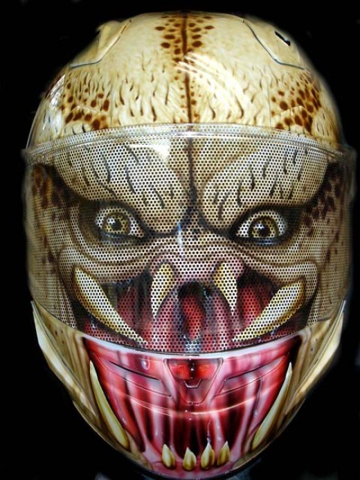 I've seen many predator helmets done, but this one takes the prize for detail and overall flow