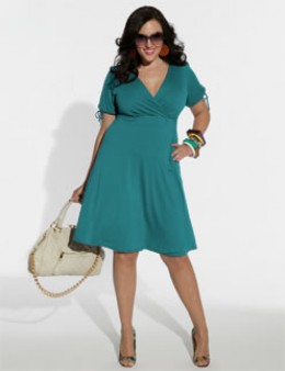 Plus size ladies can rock a wrap dress--the garment plays up your curves