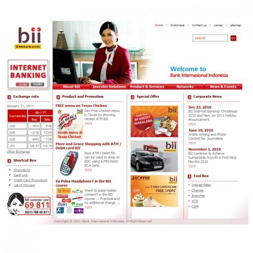 BII Website Main Page