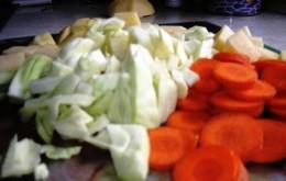 cabbage, carrots, turnips, Photo Bob Ewing