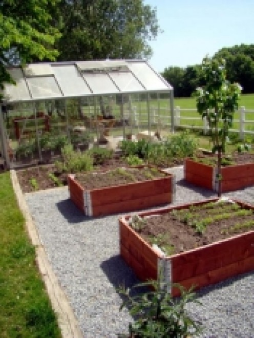 Combine them and you have a beautiful vegetable garden!
