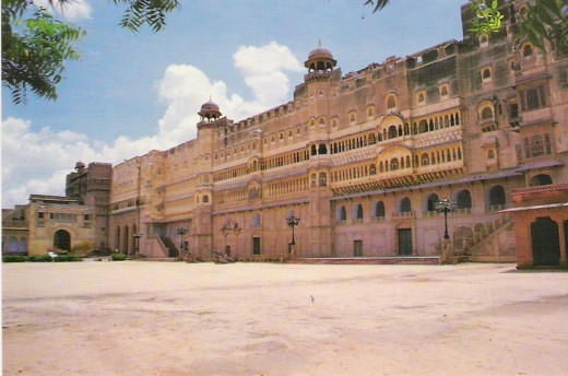 EXTERNAL VIEW OF FORT PALACE, BIKANER