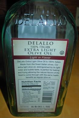 Ingredients - 100% Italian Extra Light Olive Oil