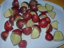 Step 3 - Quarter the Red Potatoes
