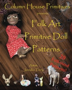 Primitive Folk Art Papier (Paper) Mache Figures, Dolls and