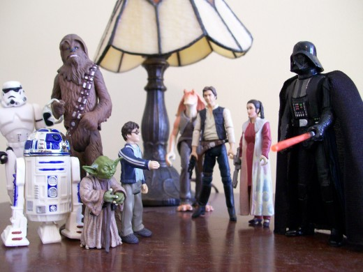 Wizard vs. Jedi. Who would win? (Harry's extending his hand but seems to have misplaced his wand.)