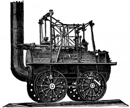 The very first train invented by George Stephenson
