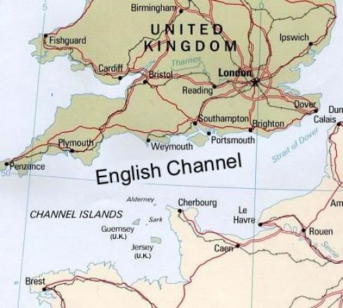 Newhaven is situated near Brighton, on the English Channel
