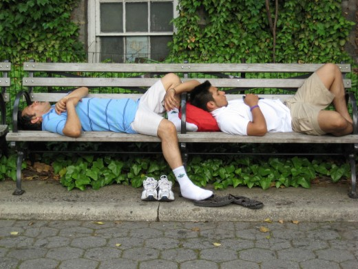 It could be worse. I could be sleeping on a park bench.