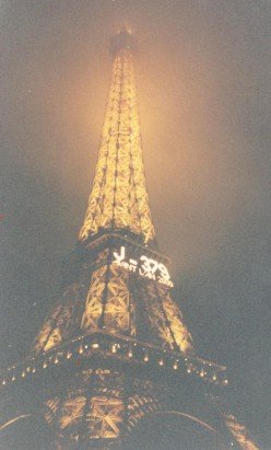 """""""Jour-379 avant l'an 2000"""" . . . The Eiffel Tower's countdown to the year 2000, with 379 days to go"""