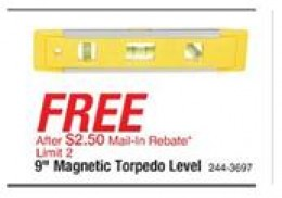(from the 1/23/11 weekly ad) One of many free items you can get at Menards