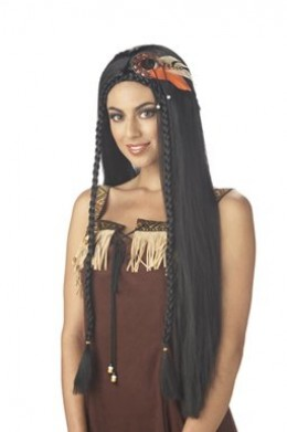Black Wig Idea for Disney's Jasmine Attire - Just Take Out the Feathers