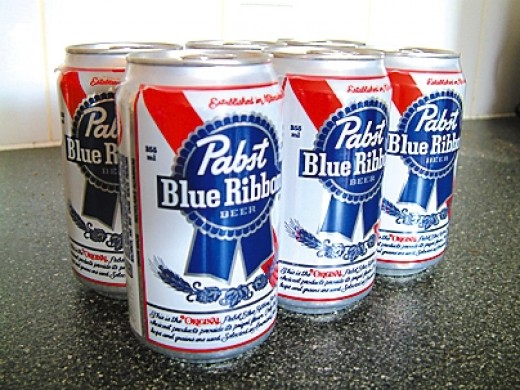 Pabst Blue Ribbon, drink of hipsters.