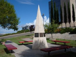 Memorial garden & monument to crews of Apollo 1, STS-51-L (Challenger), and STS-107 (Columbia) Located at New Mexico Museum of Space History in Alamogordo, NM