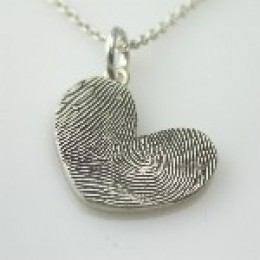 Thumbprint Heart Pendant