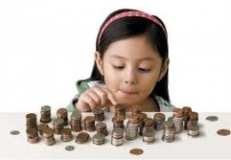 Child counting money..