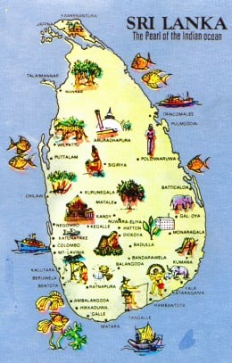 Images and Places Pictures and Info sri lanka tourism map