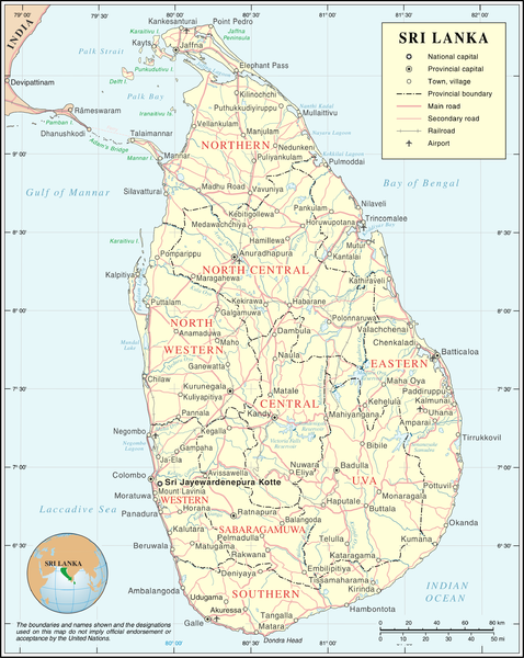 Highways and Railways in Sri Lanka