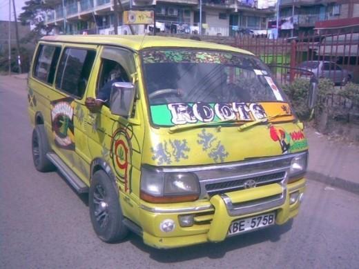 matatu..a pimped out public transport vehicle