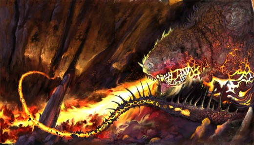 Cave Dragon, painted entirely in Photoshop using the Aiptek graphics tablet