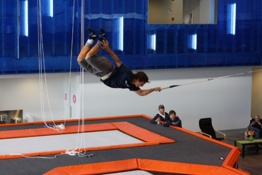 Come fly with the best - Jonny Moseley testing out the octagon trampoline ... houseofairsf.com