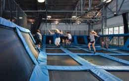 Trampoline Dodgeball Matrix Jumping Air Jr. Bounce House ... houseofairsf.com